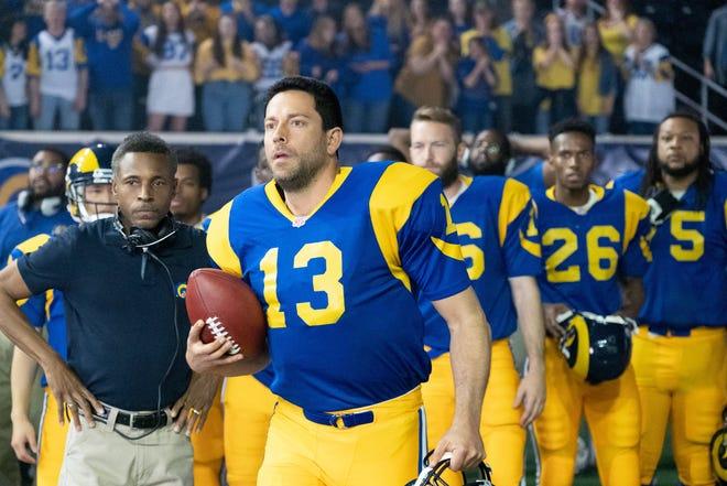 "Zachary Levi plays Kurt Warner in ""American Underdog: The Kurt Warner Story,"" which filmed in Oklahoma."