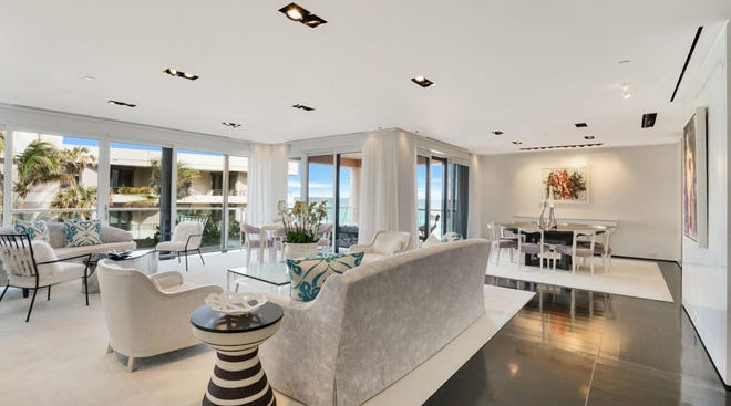 Unit N-31, a two-bedroom oceanfront condominium in the north building at 2 N. Breakers Row, has sold for a recorded $12.08 million.