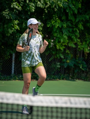 Meredith Sherbin is the creator and organizer of the Pickleball Tournament, intended to become an annual event.