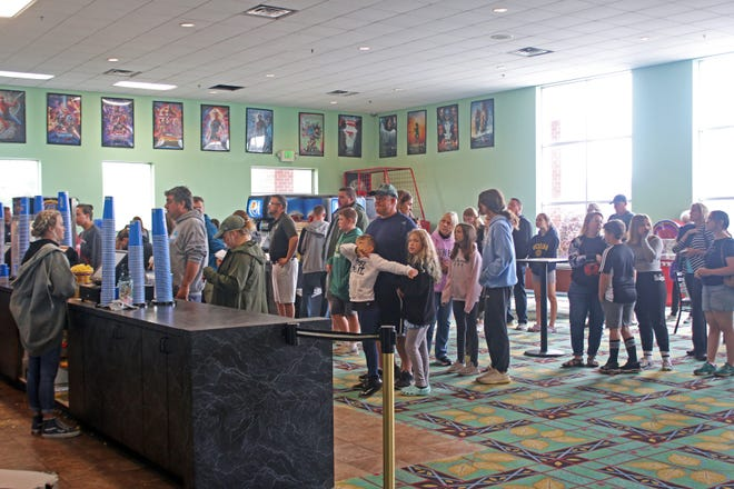 People wanting to go to the movies at the Petoskey Cinema were met with both long ticket and concession lines on Wednesday, July 7.