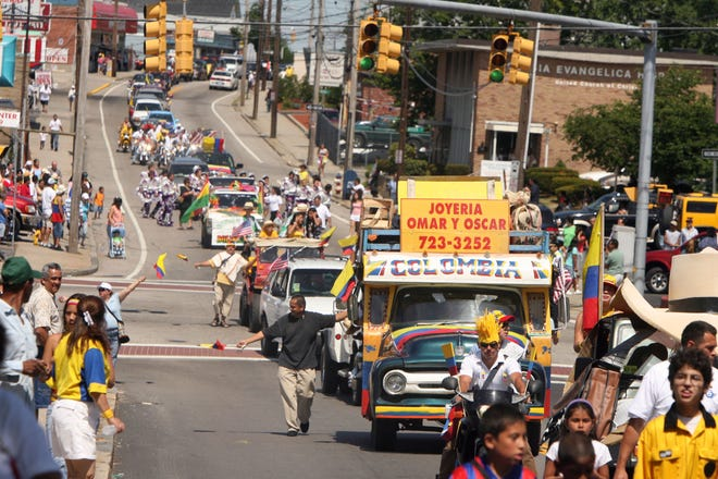 The Colombian Independence Day parade in Central Falls, which saw 16% population growth from 2010 to 2020, according to the Census.