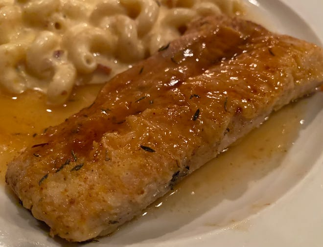 Jerk-seasoned mahi-mahi topped with a sweet pineapple glaze was one of the impressive dishes at The Bistro of Oakwood during a recent visit.