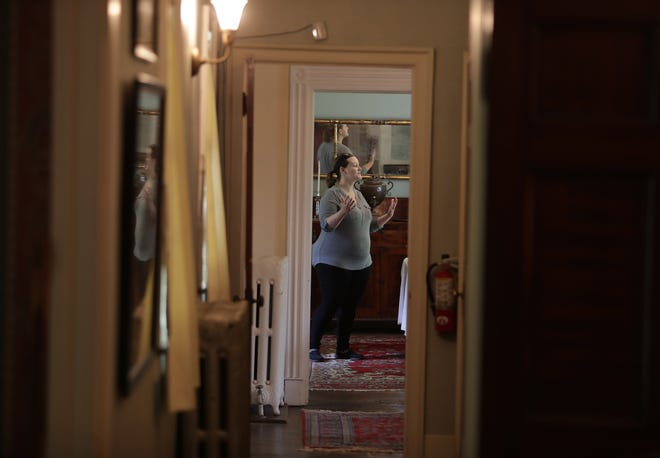 Mandy Altimus Stahl, a Spring Hill Historic Home board member, talks about the reopening of the historic Massillon home. After being closed for more than a year, the home will reopen to visitors on Saturday.