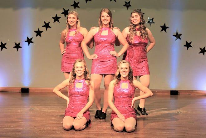 Sitting: Presley Garza, Chloe Garza Standing: Ava Hess, Lauren Leonard, Madalyn Collinsworth