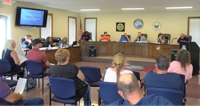 Holly Ridge Town Council discusses development during a June meeting. [VIMEO]