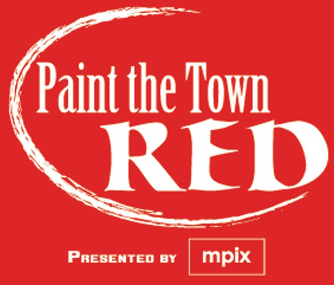 One of three variations of the official Paint The Town Red logo, shown here, must be incorporated into the winning design for the T-shirt for the annual celebration.