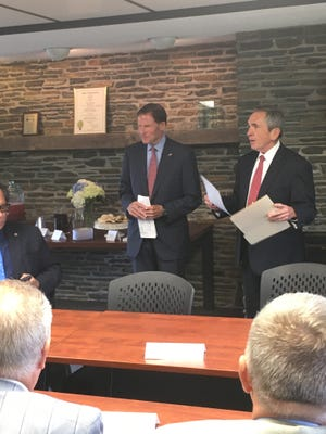 U.S. Sen. Richard Blumenthal at a round-table forum at the Northeastern Connecticut Chamber of Commerce on Thursday