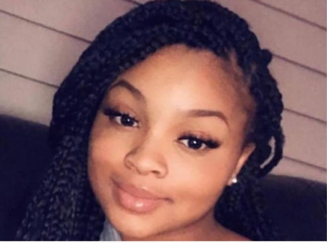 A woman was charged Thursday with first-degree murder in last weekend's gunshot death in central Topeka of Neveah Martinez, 17, shown here.