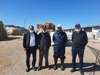 Sugarcreek's Joe Miller (second from right) is shown in Morocco.
