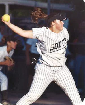 During her prep career at Pueblo South High School, Kim Sanchez was one of the top pitchers in the state. [Courtesy photo/Kim Sanchez]