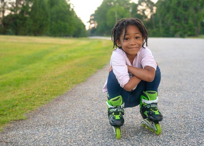 Nakeshia Shannon's oldest daughter enjoys rollerblading.