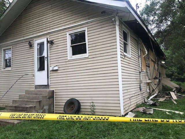 Fire damaged a home on Hamblin Street Thursday.
