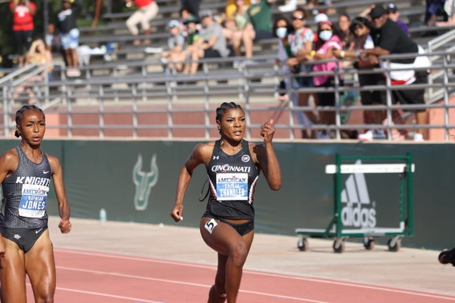 University of Cincinnati sprinter Caisja Chandler holds six school records in the sprint events and is an All-American in the indoor 200-meter dash.