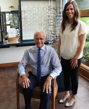 Dr. David Erwin and his daughter, Dr. Danielle Erwin-Ellis, are optometrists at Erwin Family Eyecare on Chestnut Street.