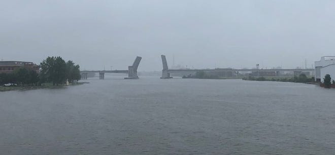 The Mason Street bridge in Green Bay has been stuck in an up position since Wednesday.