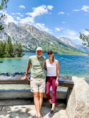 Mike Strange and daughter Alice Strange made Jenny Lake their first stop in Grand Teton National Park last month. June 2021