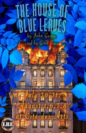 """The first upcoming show at the grassroots venue is """"The House of Blue Leaves"""" by John Guare. It will be performed July 30, 31, and Aug.6, 7, at 7:30 p.m. and August 1 and August 8 at 2:00 p.m. at the109 Vine Streetdowntown location."""