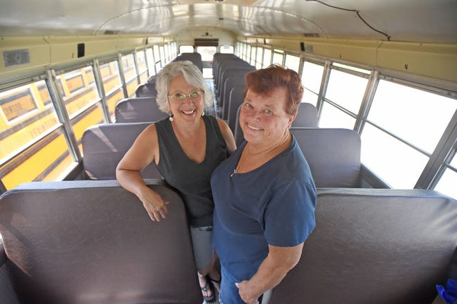 Brenda Welsh, left, donated one of her kidneys to Lexington Schools bus driver and co-worker Rhonda Miller three years ago -- July 10, 2018.