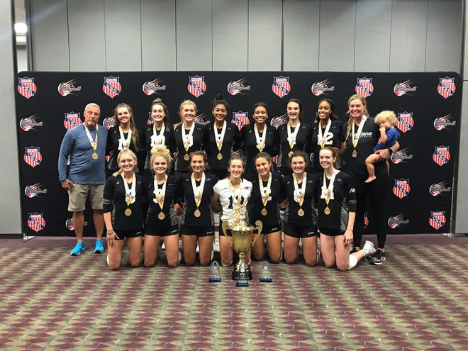 The Munciana Samurai won the 18 Open Division at the 48th AAU Junior National Volleyball Championships. The Samurai won all 11 of its matches and did not drop a set throughout the tournament.