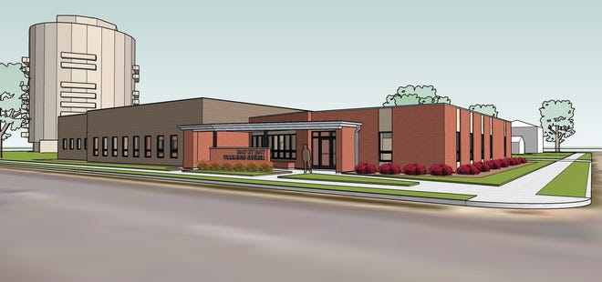 This artist's rendering shows the proposed new Day By Day Warming Shelter on the northwest corner of Ceape Avenue and Broad Street. The Oshkosh Common Council will learn about the proposal at its Tuesday meeting.