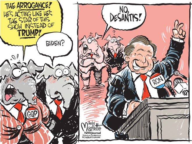 Marlette cartoon: Is DeSantis stealing Trump's GOP star power?