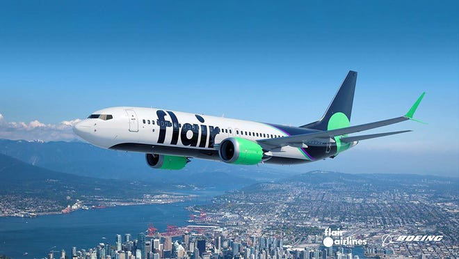 Flair Airlines announced it would add service in December between Palm Springs and Edmonton, Canada.