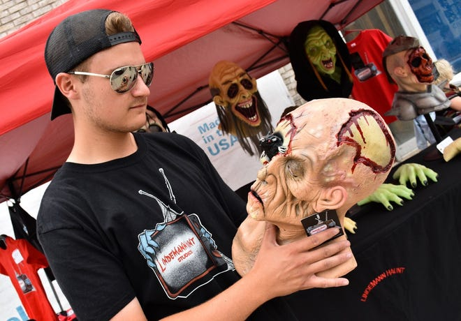 Austin Lindemann began handmaking Halloween décor after discovering pieces his late grandfather had created.