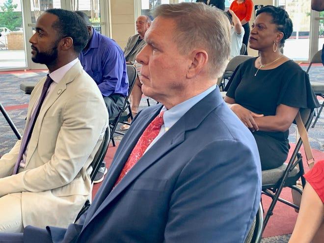 Bossier City Mayor Tommy Chandler and Shreveport Mayor Adrian Perkins