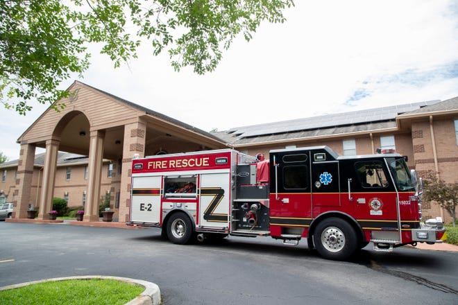 The Tallahassee Fire Department responded to a call about the smell of smoke at Pacifica Senior Living Woodmont Thursday, July 8, 2021.