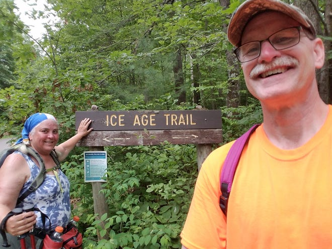 Theresa and Brock Jansen of Rib Mountain have vowed to hike all of the Ice Age Trail in segments. It's a big challenge, especially since Theresa doesn't like hiking.