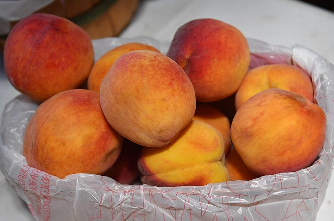 Fresh local peaches at the Farmers Market in downtown Wichita Falls. Saturday July 10th is Peach Day at the market, open from 7:30 a.m. to 1 p.m..