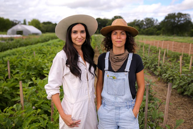 Lindsey Sokol, left, and Trisha Bates founded the Field Guide Festival in hopes of better connecting people to the source of the food they eat.