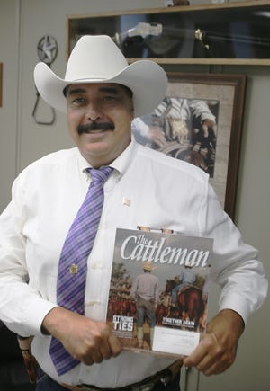 Sheriff Daniel Bueno and his department's program dedicated to help ranchers and farmers in Jim Wells County were featured in the July 2021 issue of The Cattleman Magazine.
