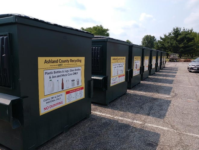 Ashland County commissioners signed a five-year contract with Kimble Recycling & Disposal to place recycling bins at 14 locations.