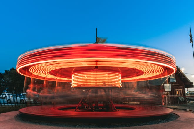 The carousel at Kiddie Park offers a fun spin to riders.