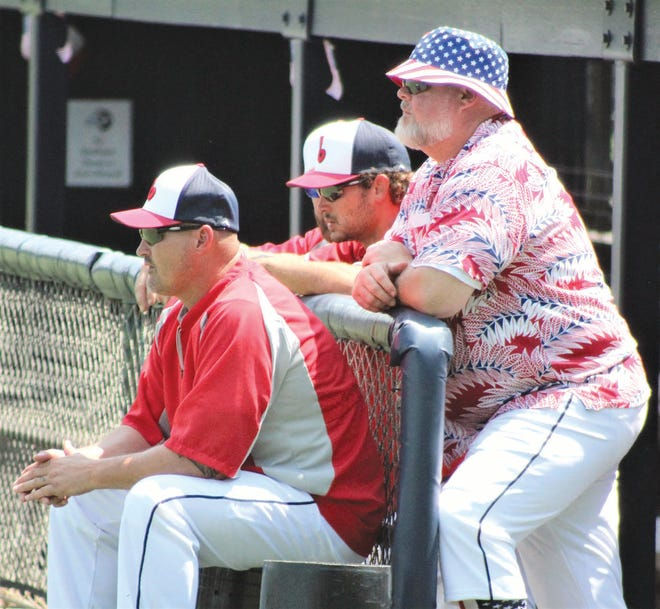Bartlesville Doenges Ford Indian coaches focus intently on the action during the Glen Winget Memorial tourney earlier this month.