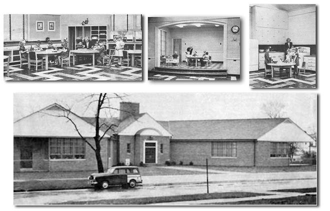 The Kindergarten Annex was built in 1949 to accommodate the new kindergarten program that was implemented for the school district that year. The building will be torn down as part of the district's school campus project.