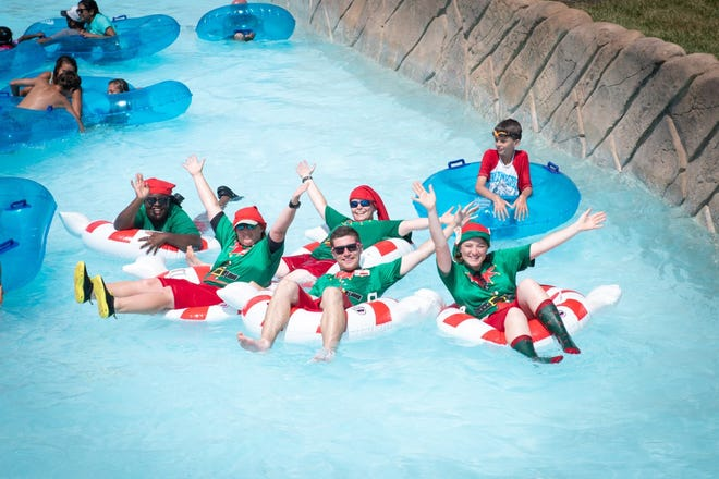 What better way to celebrate Christmas in July than relaxing at Zoombezi Bay?