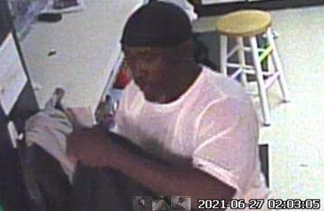 Central Ohio Crime Stoppers is offering a reward for information leading to the arrest and/or conviction of this suspect in break-ins at two gas stations early June 27 in Dublin.