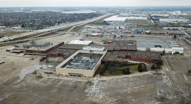 Westland Mall is marked by empty stores and large parking lots.