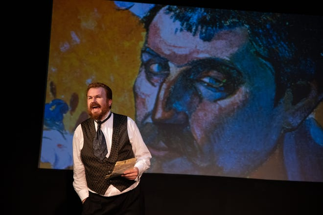 """Stefan Langer in the role of Theo in Red Herring Theater Company's production of """"Vincent."""""""