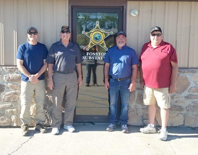 Left to right, Wayne Olson (Fosston), Mike Skaug (Beltrami), Kevin Krueger (East Grand Forks), Rick Roed (Fosston).