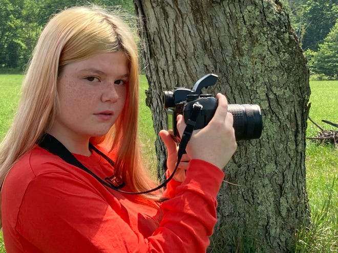 """Paige Coyle, 13, wanted to be a photographer prior to landing a role in the Premier Streaming series """"Go Iguanas!""""."""