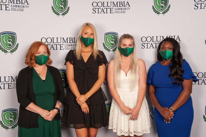 Spring 2021 respiratory care graduates from Maury County include (from left) Amy Tennant, Maggie McKnight, Brittany Meadows and Lakihya Taylor.