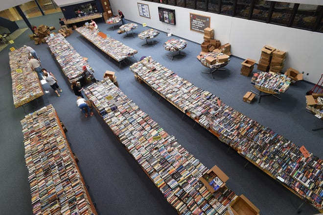 A scaled-back version of the Friends of the Library's Great American Book Sale will take place at Blasco Library this Thursday through Saturday.