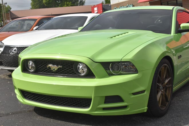 This green Ford Mustang was taken for an unauthorized ride over the Fourth of July weekend.