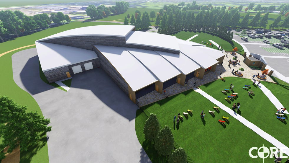 The proposed Pavilion in the Park at Donovan Park would seat 1,500 people under the canopy and 500 people outdoors.