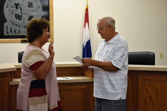 The newly appointed Daniels took the oath of office Tuesday morning, June 6 at the Laurie City Hall.