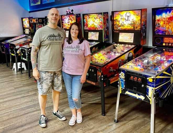 Monroe residents David and Leeann DeSloover recently opened ULEKstore's Pinball and Classic Arcade at the Mall of Monroe. The venue has 20 pinball machines and 12 arcade games.
