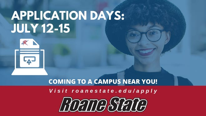 Application days are coming this week for Roane State Community College.